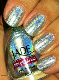 Jade holographic nail polish <3