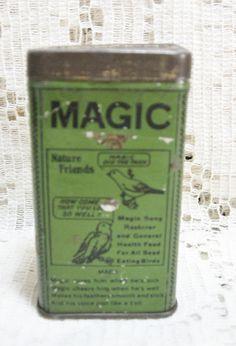 Magic Bird Food Advertising Tin ~ SOLD