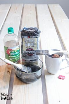 The Most Inexpensive All Natural Wood Stain Method | Bless'er House #woodstain #affordableDIY