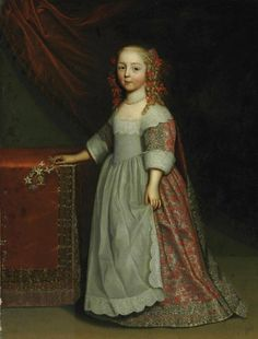 Attributed to Charles Beaubrun (Amboise Paris) and Henri Beaubrun (Amboise Paris) , Portrait of a girl, full-length, in an embroidered silk dress Fashion History, Fashion Art, Girl Fashion, Fashion Dresses, Baroque Fashion, 17th Century Art, Embroidered Silk, Female Portrait, Historical Clothing
