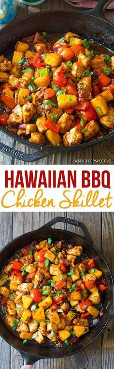 hawaiian bbq chicken skillet