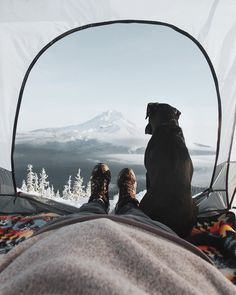 """My family lives 1000 miles away, therefore, I'll be camping around Mt. Hood with Rango, my dog. Follow my snapchat to see what kind of trouble we get…"""