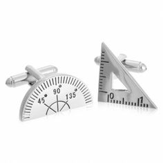 Engineering Set Square and Protractor Cufflinks