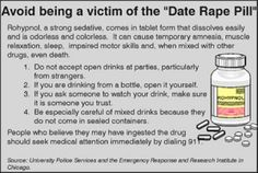 Facts about Rohypnol and other date rape drugs - Facts on Rohypnol