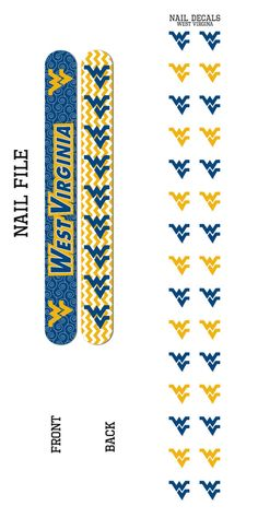Bundle 2 Items: West Virginia Nail File and Nail Decals - Sunset Key Chains