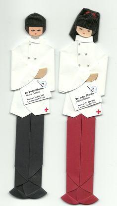 Marcador de páginas em origami com logotipo - Dentistas