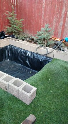 Wow! This looks amazing! The perfect habitat for pet ducks, or anyone who wants a backyard waterfall! | outdoor projects | water feature