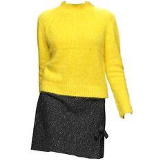 Karen Walker ❤ liked on Polyvore featuring dresses, yellow dress, karen walker dress and karen walker