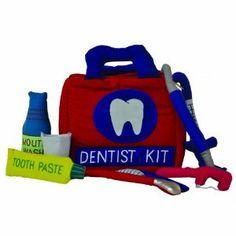 An adorable kid's Dentist kit. Making dental care fun will help make it a lifelong habit! --Cayden would love this after dental health learning at school Dental Quotes, Dental Humor, Dental Hygienist, Dental Implants, Childrens Dentist, Kids Dentist, Dental Life, Dental Health, Oral Health