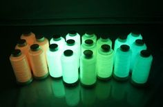 How cool is this glow-in-the-dark thread?!?!?!  It would be awesome for kumihimo!