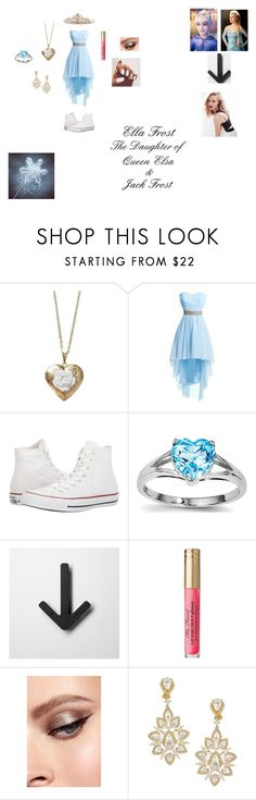 """~Ella Frost~"" by in-the-middle-of-the-night ❤ liked on Polyvore featuring Poporcelain, Converse, Once Upon a Time, Too Faced Cosmetics, Nadri, BillyTheTree and Disney"