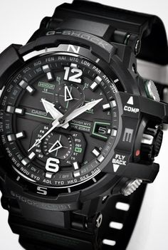 Casio watches for men – G-Shock, Pro-Trek and Edifice Stylish Watches, Cool Watches, Watches For Men, Black Watches, Casio G Shock Watches, Sport Watches, Casio G-shock, Casio Watch, Dream Watches