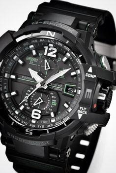 2013 - Casio - G-SHOCK GW-A1100 Aviator http://www.slideshare.net/leatherjackets/best-watches-reviews-2014-casio-gshock-black-watches-for-men