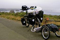 a really loaded touring bike!