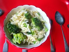 Stacey Snacks: Scary Side Dish: Cheesy Broccoli Orzo