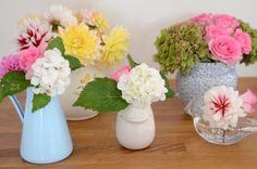 I'm going to strategically place some vases of fake flowers around the house for some home brightening!