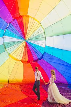 Hot air balloon wedding   Just For Love Photography
