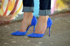 Electric blue stilettos