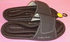 Woens Caribbean Cartel Sandals sz 7/8 Medium Flex Foam Footbed Black Velcro Shoe New Listing!