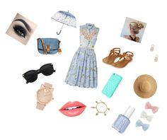 """""""Created by Elizabeth"""" by vintagegabbi on Polyvore featuring French Connection, Topshop, MICHAEL Michael Kors, Flora Bella, Fiebiger, Bling Jewelry, Sole Society, Vera Bradley, Decree and Dsquared2"""