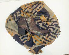 Boots en cuir, couleur mordorée pour femme. Collection hiver 2015 de la marque BISOU CONFITURE en vente à la boutique Le133. adresse: 133 rue d' antibes à Cannes. France bisouconfiture à cannes