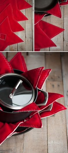 The handmade gift I want most this year --> these simple, yet stunning Felt Pot & Pan Pads. Such a thoughtful and useful gift idea #HolidayHelp