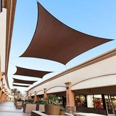 Freeport Park Solon 10' Triangle Shade Sail | Wayfair Triangle Shade Sail, Sun Sail Shade, Shade Sails, Outdoor Shade, Pergola Shade, Outdoor Pergola, Backyard Pergola, Shade Canopy, Canopy Tent