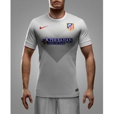 14-15 Atletico Madrid Away Gray Soccer Jersey Shirt
