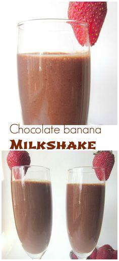 Healthy Chocolate Banana Milkshake (Vegan)