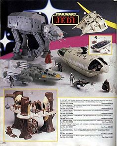 Star Wars toys in the old Argos catalogue.