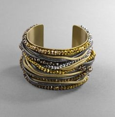 Mixed Material Multi Layer Cuff. Kenneth Cole New York.