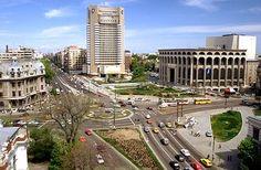 piata universitatii Capital Of Romania, Palace Of The Parliament, Beautiful Park, Eastern Europe, Big Ben, Mansions, World, House Styles, Bucharest