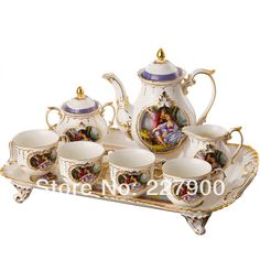 English Royal European Ceramic Forest Lovers Coffee Set Tea Set Tea Service-in Coffee & Tea Sets from Home & Garden on Aliexpress.com | Alibaba Group