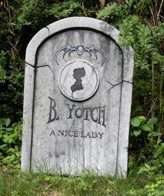"""New tombstone: B. Yotch """"A Nice Lady"""" - HauntForum"""