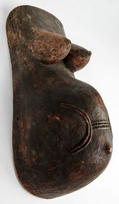 Africa   Body mask from the Makonde people of  Tanzania and Mozambique   Wood