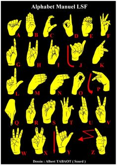 learn sign language Just for you Ellon Sign Language Alphabet, Learn Sign Language, British Sign Language, French Language, Culture Sourde, Deaf Sign, French Signs, Hand Symbols, Hand Signals