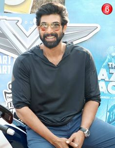 PICS: Rana Daggubati rides a bike, looks debonair during 'The Ghazi Attack' promotions - Bollywood Bubble 373619