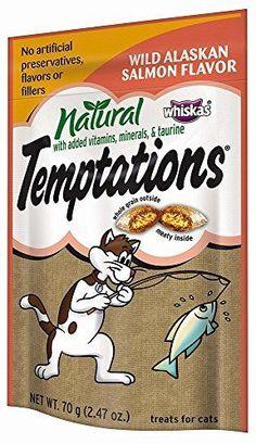 TEMPTATIONS Natural Treats for Cats Wild Alaskan Salmon Flavor 2.47 Ounces Pa... #Temptations
