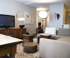 Earthy modern, restrained palette with great texture and sculptural forms