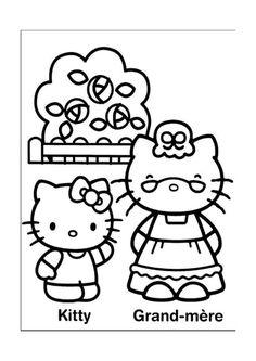 Hello Kitty Kleurplaten voor kinderen. Kleurplaat en afdrukken tekenen nº 24