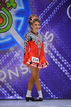 Exquisite Red Taylor Dresses Irish Dance Dress Solo Costume For Sale