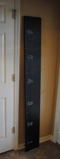 Chalkboard Wooden Ruler Growth Chart  Growth chart for kids  Chalkboard surface  Back To School. $60.00, via Etsy.