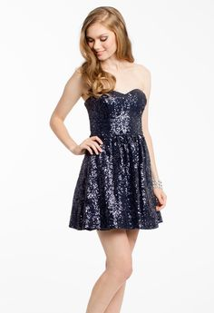 SEQUIN PARTY DRESS #shortdress #dresses #fashion #camillelavie #groupusa