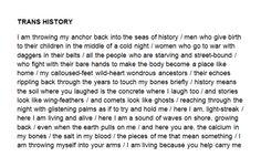 "modernaukeats: ""Trans History by Keaton St. James """