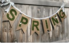 Cute! Need to do something like this with burlap for my fence. I think I will paint the letters on burlap.