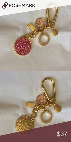 Coach key chain NWOT coach key chain  comes with  pouch but no tags . Item comes from smoke free home Coach Accessories Key & Card Holders