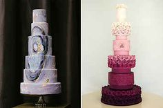 25 Incredibly Beautiful Wedding Cakes That Won 2015 The black an gold one is gorgeous!