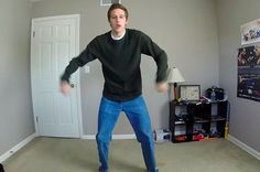 """This Guy Filmed Himself Doing The """"Napoleon Dynamite"""" Dance For 100 Days Straight Because GOSH! - - editing was so perfect!"""