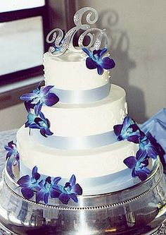 Blue Dendrobium Orchids Wedding Cakes | Flowers By Anne » Explore Designs