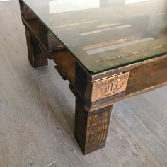 Bespoke Edition - Built to last crate table in updated antique finish.  Now I need to find some wood/pallets to repurpose